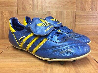 bd15806c0a4e89 Vintage🔥 Adidas PROFI Made In Germany Soccer Cleats Nolberto Solano Sz 11  Royal