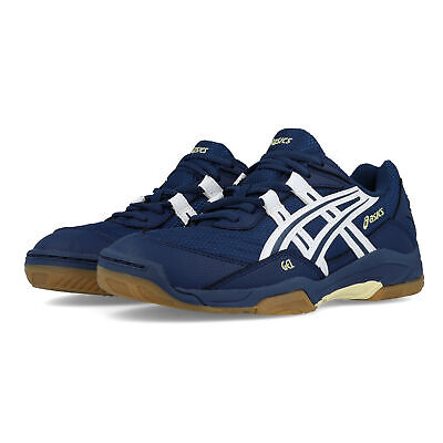 Asics Womens Gel-Hunter 2 Indoor Court Shoes Navy Blue Sports Badminton Squash