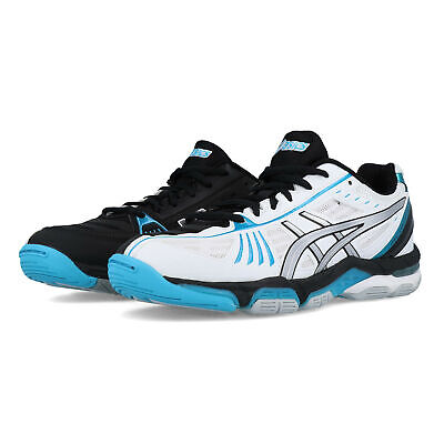 51da552056ce5 ASICS WOMENS GEL-VOLLEY Elite 2 Court Shoes Black Blue White Sports  Badminton - EUR 63