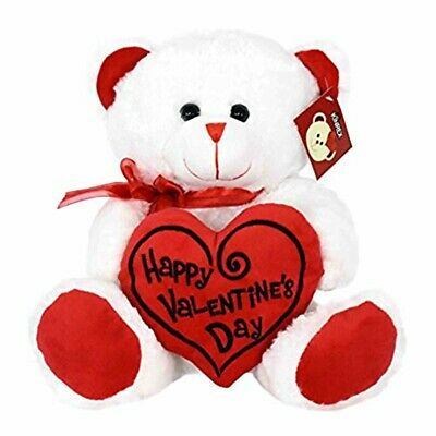 KINREX Soft Stuffed Teddy Bear - Happy Valentine's Day Bear -Brand New