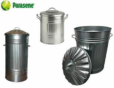 Galvanised Metal Bin, Small, Medium, Large, Xl, Xxl, Metal Dustbin Trash Can