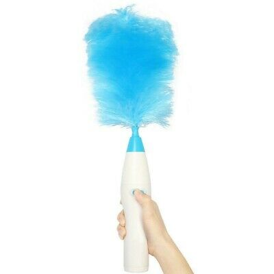 Electrinic Hair Brush Spin Electric Hand Duster Motorized Dust Wand Removes P8S0