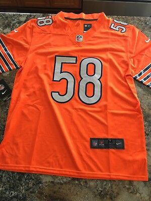 759e13241 Chicago Bears Roquan Smith  58 Jersey M Orange. Men s Stitched Limited Rush