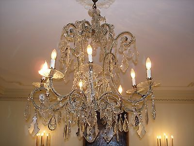 Gorgeous 19Th Century Antique Italian Crystal Chandelier