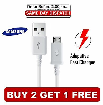 Genuine Samsung 1M Fast Charger Micro USB Data Cable Lead For S4 S5 S6 S7