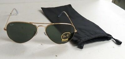 1e3b94dff3 Ray-Ban Classic Aviator New Sunglasses Green Lens   Gold RB3025 L0205 58 14