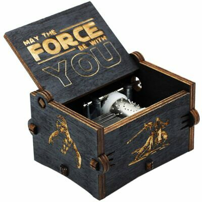 New Black Star Wars Music Box Game Of Thrones Castle In The Sky Hand Cranke O1J6