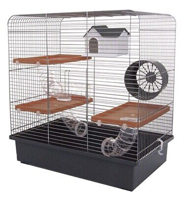 Large Hamster Cage 51cm Tall with Running Tubes Toys House , Wheel For Hamsters