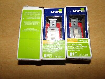 NEW Leviton 1223 Heavy Duty 15/20A 3-Way Dimmer Switches, Lot of 3