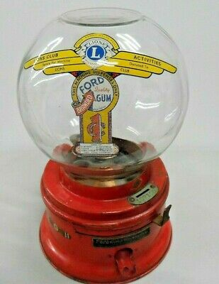 Ford Gumball Machine,vending Machine,antique,penny Machine,coin-Op 1935