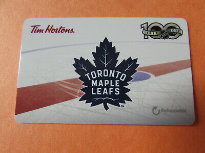 1917-2017 Toronto Maple Leafs Tim Hortons Collectible Gift Card Never Used