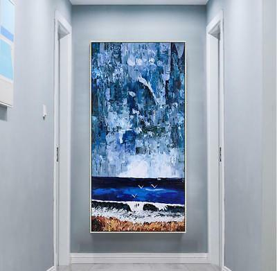 HH352 Large Modern Abstract scenery oil painting 100% Hand-painted Home Decor