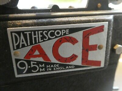 PATHESCOPE ACE 9.5  MM FILM PROJECTOR, very good condition, greased. untested