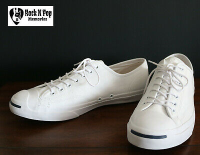 971cd947cca3a6 Mens Converse Jack Purcell Tumbled Leather Low Top White Unisex Shoe 147575C  12