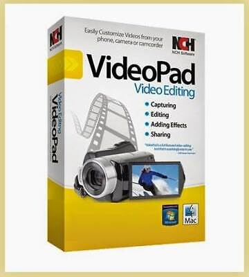 NCH VideoPad Video Editor Professional Instant Download Lifetime License Key