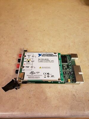 National Instruments NI PXI-4070 6½-Digit, ±300 V, Onboard 1.8 MS/s Iso Digit.