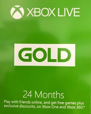 BRAND NEW Microsoft - Xbox Live 24 Month Gold Membership
