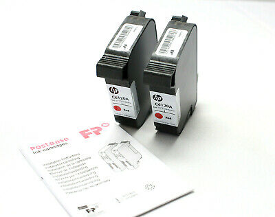 FP PIC40 High Capacity Postbase Ink Cartridge Set C6120A Red Fluorescent