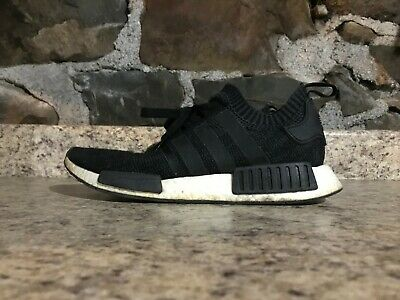 new style 34bd7 60a2b Adidas NMD R1 PK Black Winter Wool BB0679 SZ 10 PRE-OWNED USED WITHOUT BOX