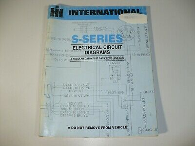 international s-series truck electrical wiring circuit diagram manual