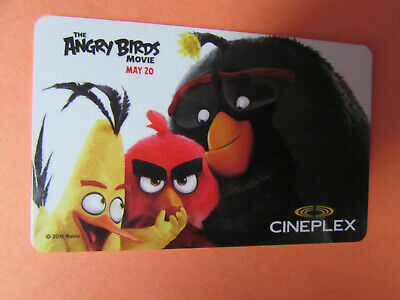 2016 Angry Birds Cineplex Odeon Canada  Gift Card No Value