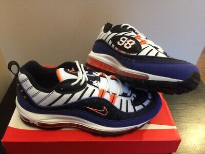 save off 8174a 81a4c Nike Air Max 98 White Deep Royal Blue New York Knicks CD1536-100 New DS