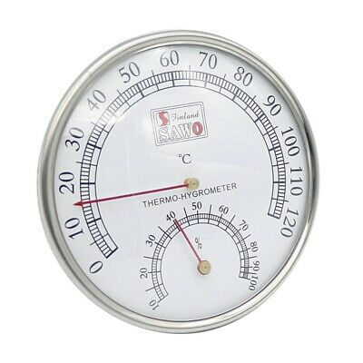 Sauna Thermometer Metal Case Steam Sauna Room Thermometer Hygrometer Bath A M8B1