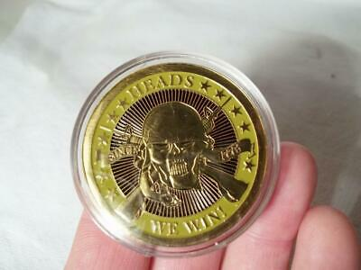New Heads We Win Tails You Lose Challenge Coin Officially Licensed By Us Army!
