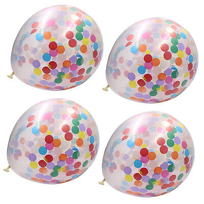 Latex sheets, confetti, foam filled,clear balloons celebration party decorations