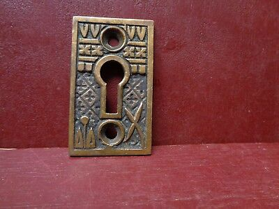 Antique Large Cast Brass Keyhole Covers More Available #06