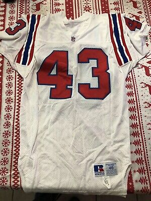 original Thompson NEW ENGLAND PATRIOTS NFL FOOTBALL GAME Issued Russell  JERSEY f8142ffc5