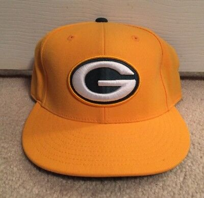 c1770aa018d Green Bay Packers Mitchell   Ness Fitted Hat 7 1 2 Nfl Cap Yellow Classic