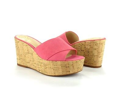 dea474b6c17a Vince Camuto Kessina Mule Soft Pink Suede Leather Cork Platform Wedge  Sandal 6.5