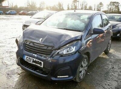 Peugeot 108 Active 1.0 2017 5dr damaged salvage