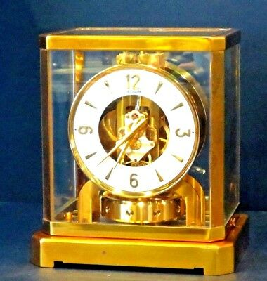 FULLY CLEANED SERVICED1960s JAEGER LECOULTRE 528 ATMOS CLOCK#102XXX WORKING