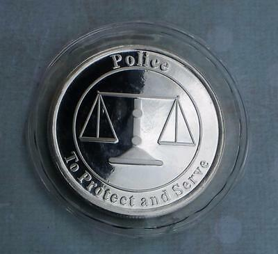 Police 1 Troy Ounce .999 Fine Silver Round, To Protect and Serve Silver Bullion