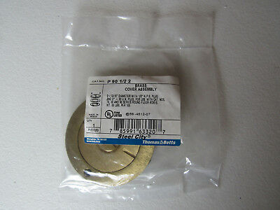 """Thomas & Betts P-90-1/2-2 Brass Cover Assembly 2 13/16"""" Dia. 2"""" Plug Steel City"""