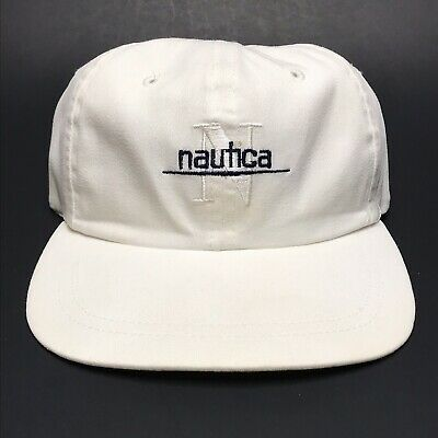 9a46718e186 Vtg Nautica Flag Hat Baseball Cap Flexible Fit N 983 Sailing 90 s Navy Blue.   23.99 Buy It Now 8d 6h. See Details. Nautica White