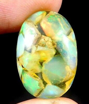 Natural Charming Ethiopian Opal Cabochon Gemstone 12 CT 18x11mm K692