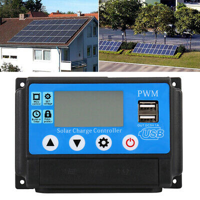 100A MPPT Solar Panel Regulator Charge Controller 12V/24V Auto Focus Tracking CA
