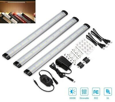 3pcs LED Under Cabinet Lighting Dimmable Kitchen Light Bar Under Counter Lamp US