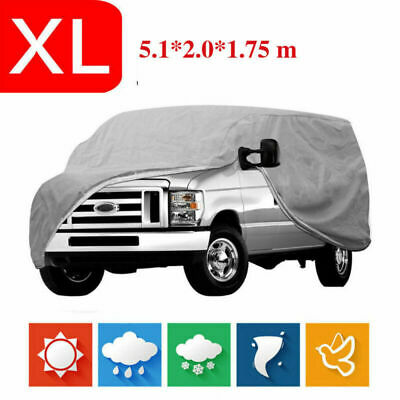 Car Cover UV Resistance Anti Scratch Dust Dirt Full Protection 5.1*2.0*1.75M