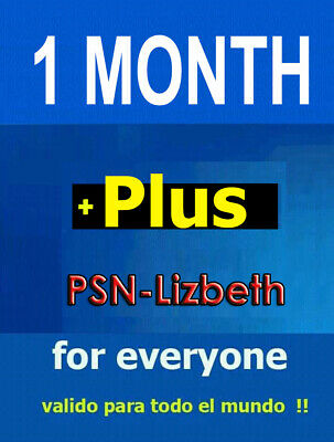 PSN Plus 1 MONTH PlayStation Ps Plus PS4 PS3 Vita (No Code)