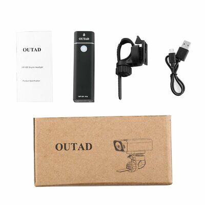 OUTAD 300LM Bicycle Front Light Bike Flashlight Torch 4 Modes IPX6 WaterproofSZ