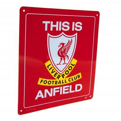 Liverpool FC Official Metal This is Anfield Logo Sign