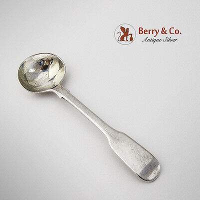 Georgian Master Salt Spoon Sterling Silver Gilt 1830