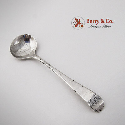 Georgian Master Salt Spoon Sterling Silver 1809