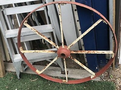 Large Wagon Wheels Vintage x 2