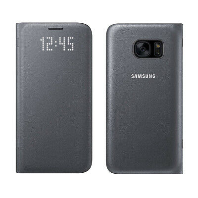 For Samsung Galaxy S7 Samsung OEM LED View Cover Protective Case - Black
