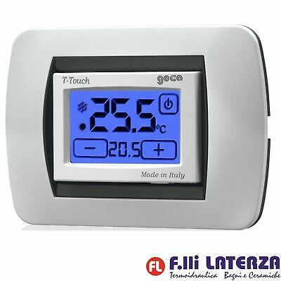 Termostato Incasso Digitale Touch Screen Colore Bianco Geca 35301652